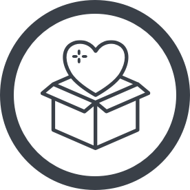 icon heart in a box